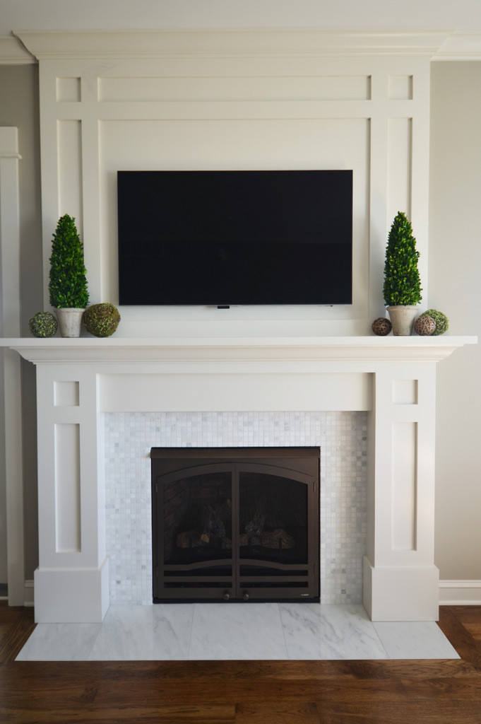Reclaimed Wood Wall Living Room Fireplace Surrounds